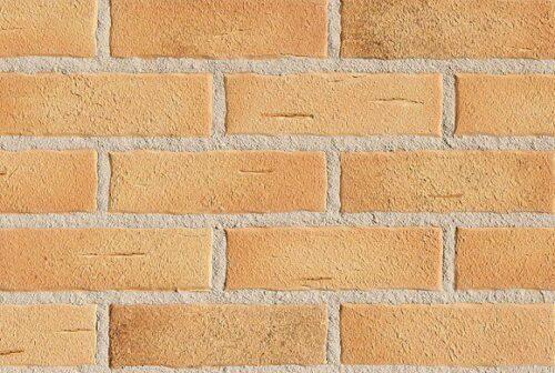 Клинкерная фасадная плитка под кирпич Roben Aarhus Gelb-carbon