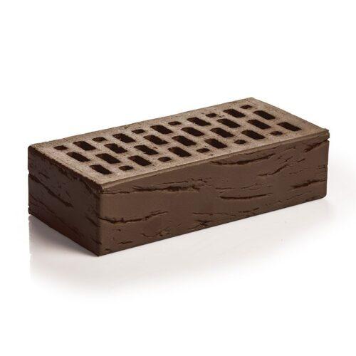 Кирпич лицевой клинкерный Магма Керамик шоколад одинарный антик
