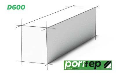 Газобетонный блок Poritep 100 мм D600