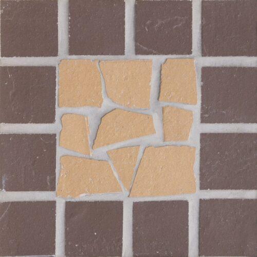 Вставка мозаичная из клинкера (на сетке) Экоклинкер Звезда